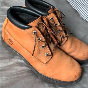 Leather Timberlands boots